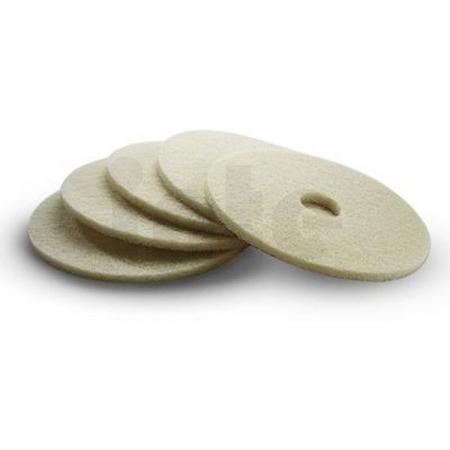 Lešticí pad Kärcher - měkký - 500 mm (béžový) - 5 ks