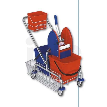 EASTMOP CLAROL 2x17 PLUS úklidový vozík - kbelík, boční koš