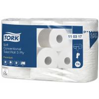 TORK Soft toaletní papír v konvenční roli Premium – 3vrstvý - 1 bal. x 6 rolí x248 útržků
