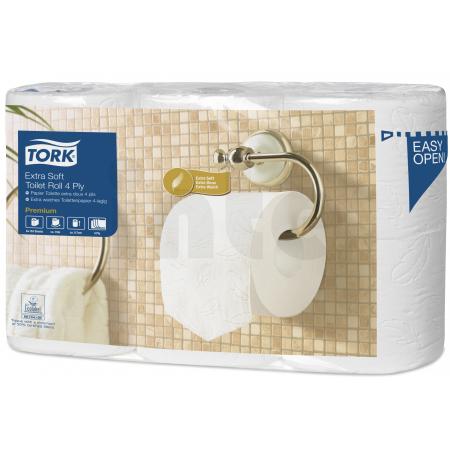 TORK Extra jemný toaletní papír konvenční role Premium – 4vrstvý - 7 bal. x 6 rolí x 153 útržků
